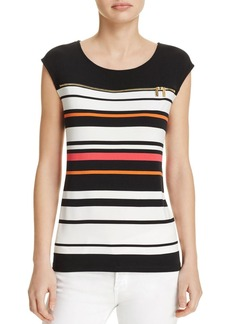 Calvin Klein Zip Yoke Stripe Top