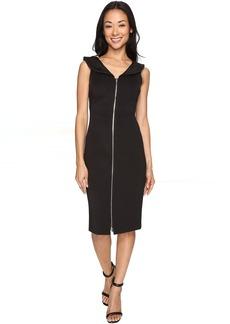 Calvin Klein Zipper Front Sheath Dress CD7M1E8U