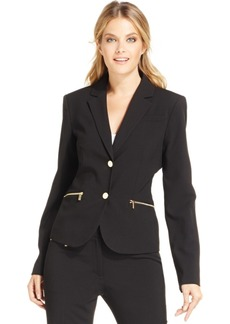 Calvin Klein Zipper-Pocket Blazer