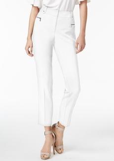 Calvin Klein Zipper-Trim Straight-Leg Pants