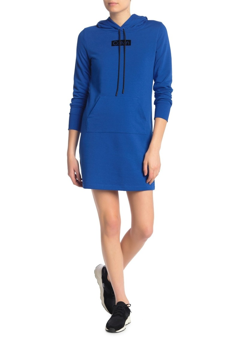 Calvin Klein Camo Logo Hoodie Sweater Dress