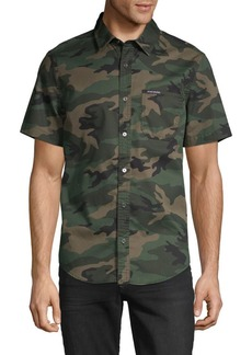 Calvin Klein Camouflage-Print Short-Sleeve Shirt