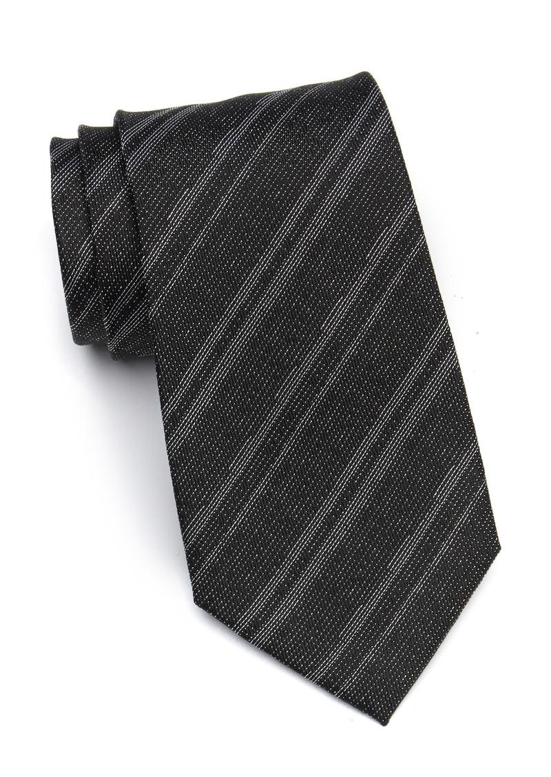 Calvin Klein Canyon Stripe Silk Tie