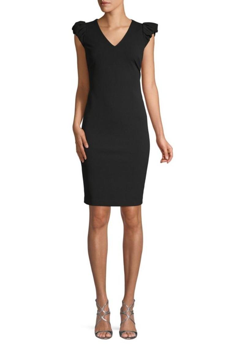 Calvin Klein Cap-Sleeve Sheath Dress