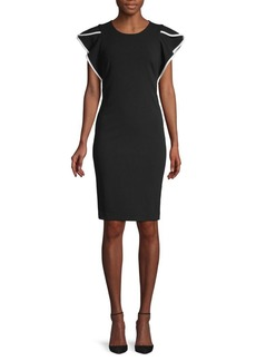 Calvin Klein Cap-Sleeve Sheath Dress