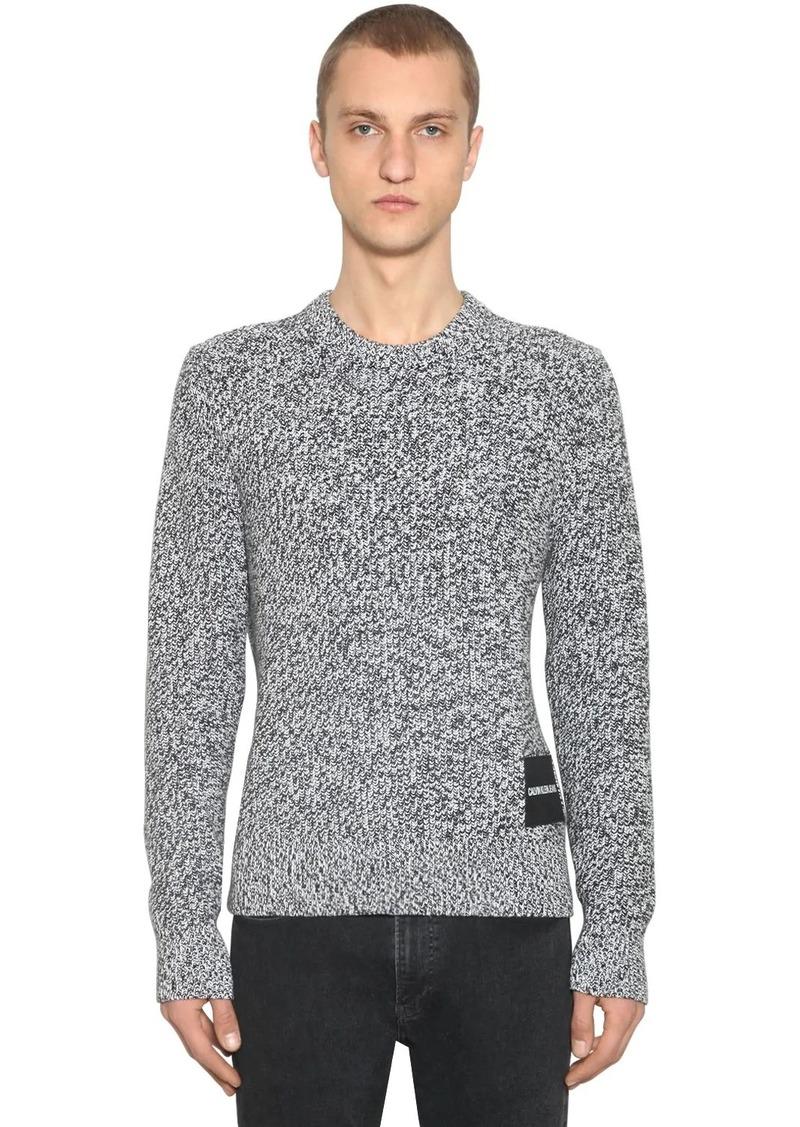 Calvin Klein Cardigan Stitch Cotton Knit Sweater