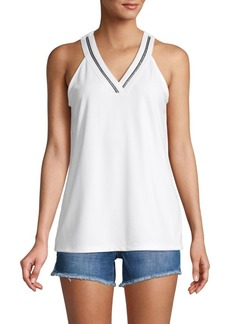 Calvin Klein Chain-Trim Halter Top