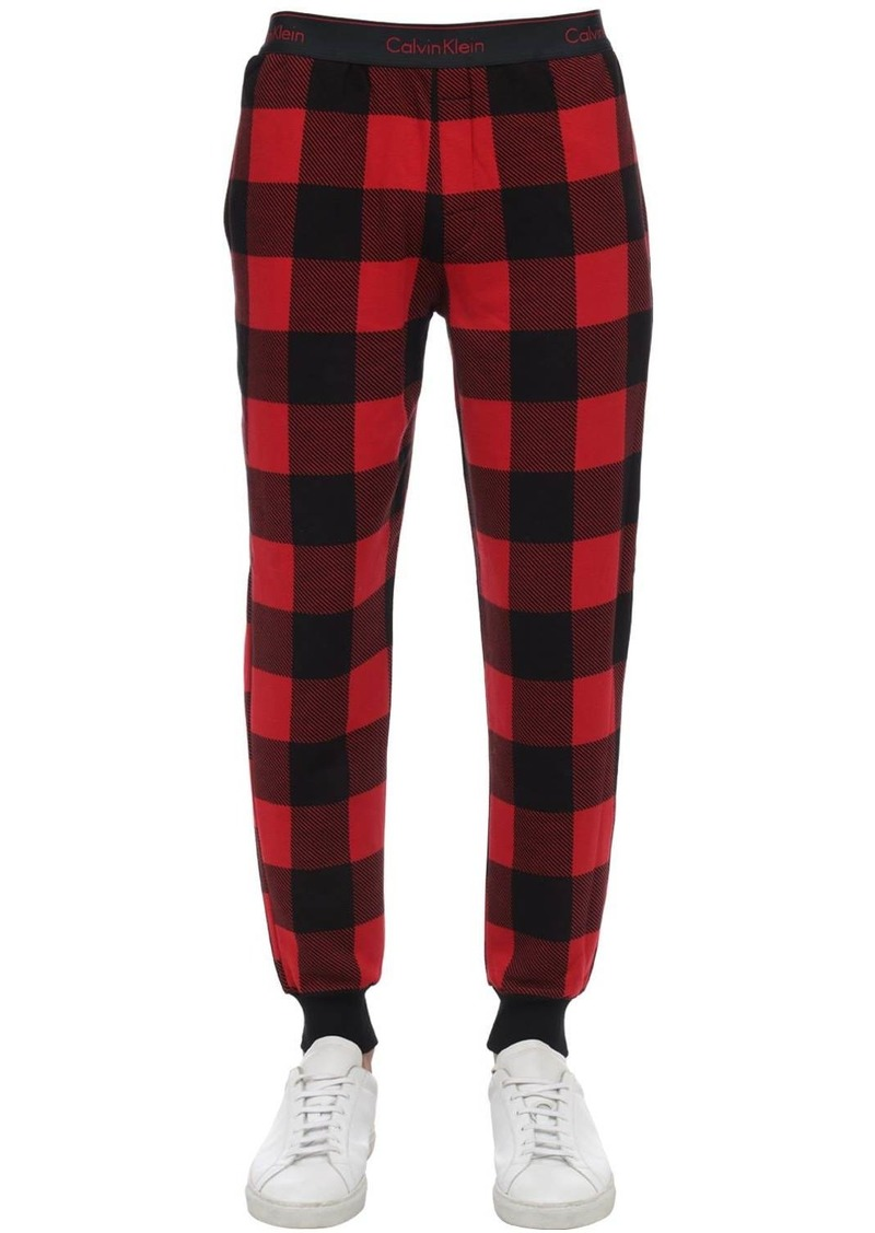 Calvin Klein Check Cotton Blend Pajama Pants