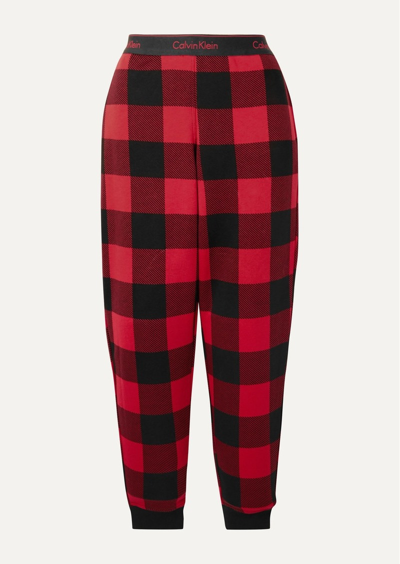 Calvin Klein Checked Cotton-blend Jersey Pajama Pants