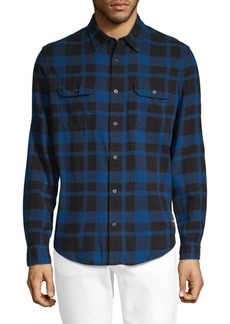 Calvin Klein Checked Long-Sleeve Button-Down Shirt