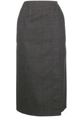Calvin Klein checked wrap skirt