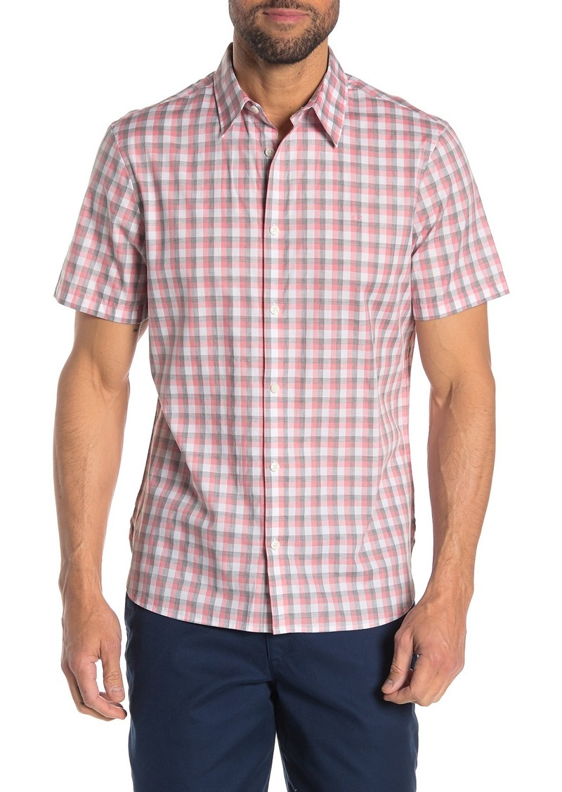 Calvin Klein Checkered Placket Short Sleeve Shirt