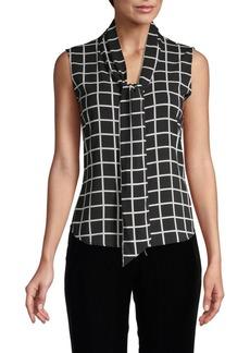 Calvin Klein Checkered Sleeveless Top