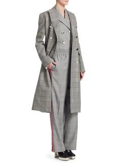 Calvin Klein Checkered Wool Coat