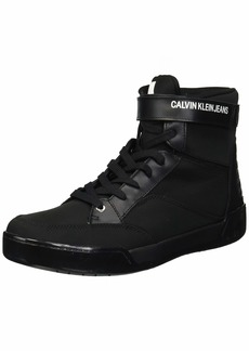 Calvin Klein CK Jeans Men's Nigel Nylon/Soft Nappa Sneaker   M US