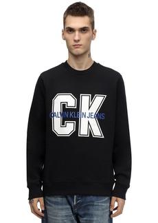 Calvin Klein Ck Large Print Cotton Blend Sweatshirt