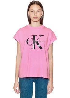 Calvin Klein Ck Logo Printed Cotton T-shirt