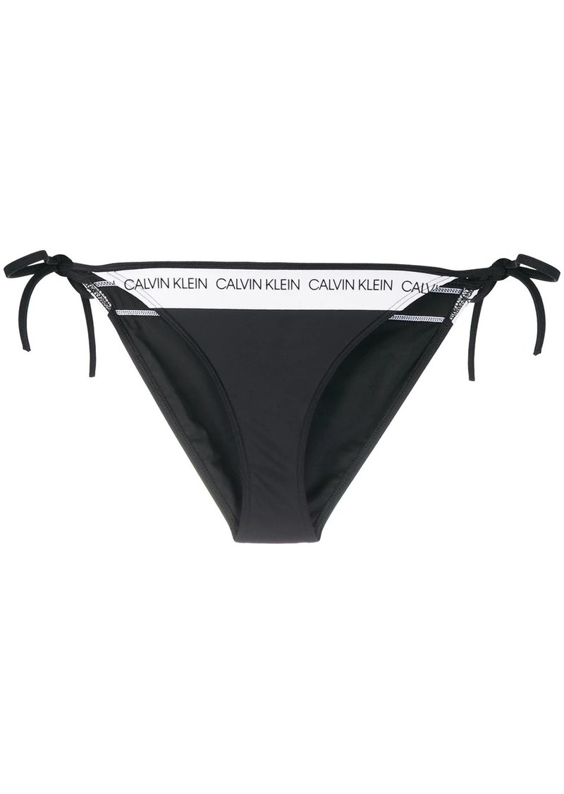 Calvin Klein CK Logo tie side bikini bottom