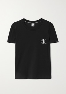 Calvin Klein Ck One Printed Stretch-cotton Jersey T-shirt