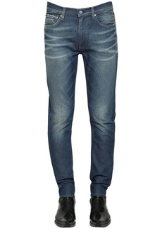 Calvin Klein Ckj 026 Slim Denim Cuff Up Logo Jeans