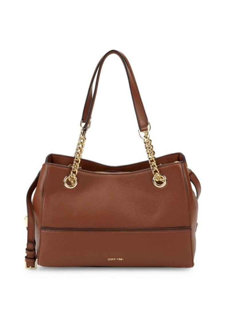 Calvin Klein Marie Leather Shoulder Bag