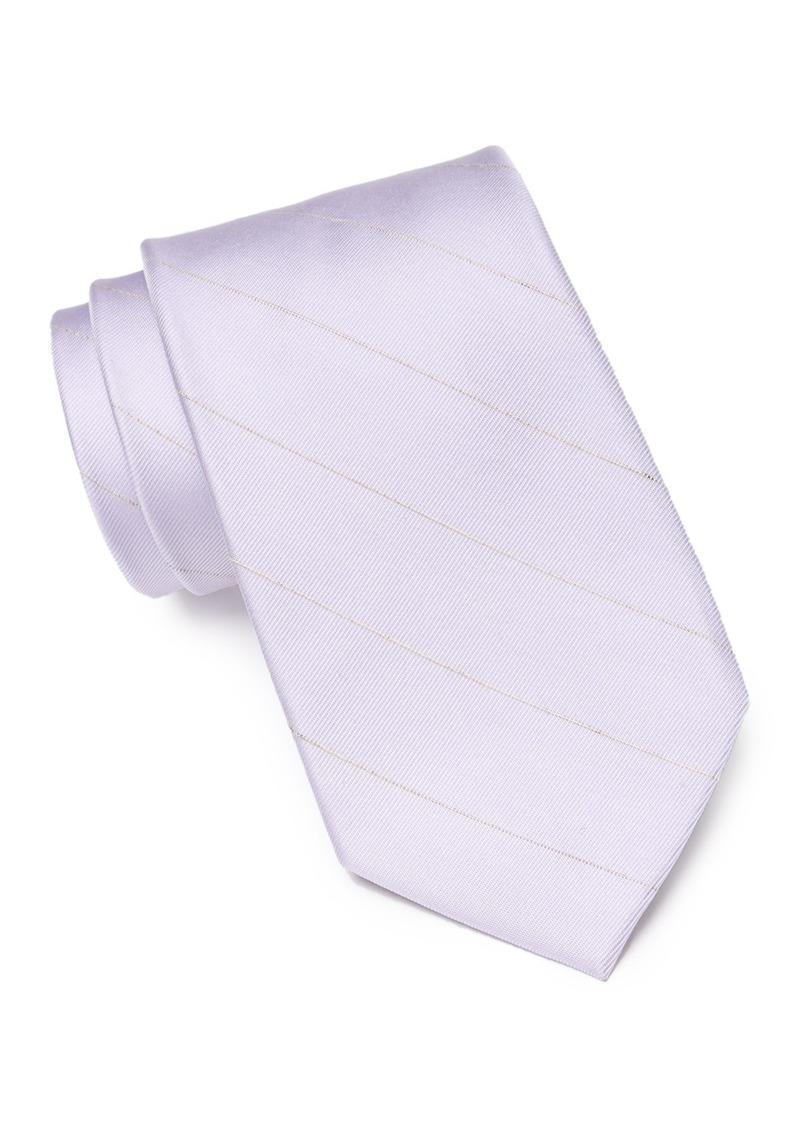 Calvin Klein Classic Pinstripe Silk Blend Tie
