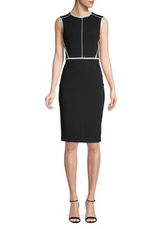 Calvin Klein Classic Sleeveless Sheath Dress