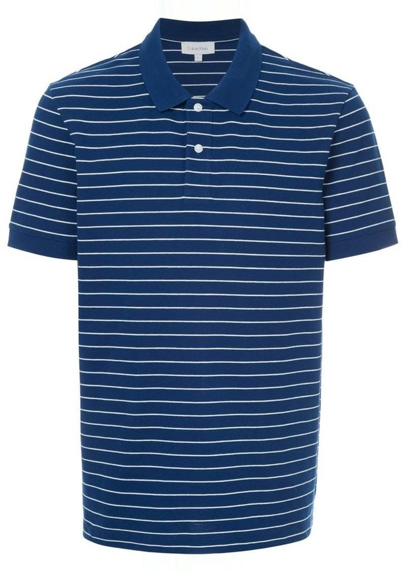 Calvin Klein classic stripe polo shirt