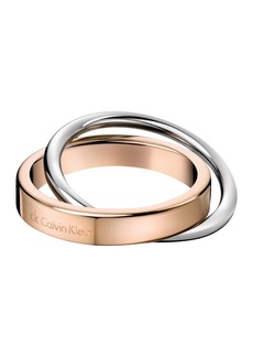 Calvin Klein Coil Intertwined Rings - Size 7