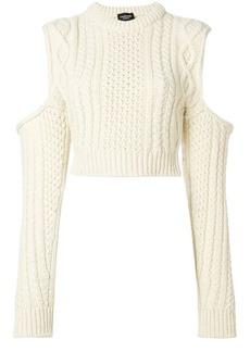 Calvin Klein cold shoulder chunky jumper