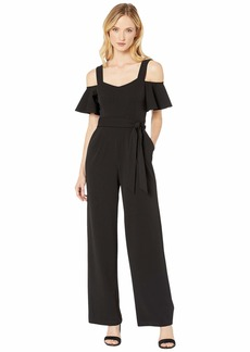 Calvin Klein Cold-Shoulder Jumpsuit