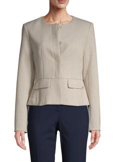 Calvin Klein Collarless Peplum Jacket