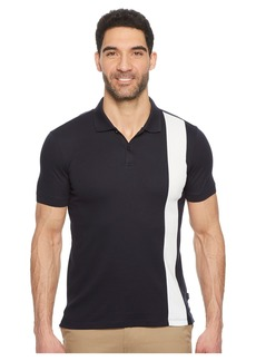 Calvin Klein Color Blocked Stripe Knit Polo