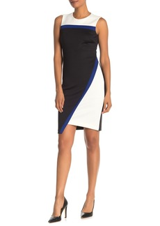 Tommy Hilfiger Colorblock Asymmetrical Sheath Dress