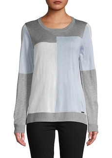 Calvin Klein Colorblock Long-Sleeve Sweater