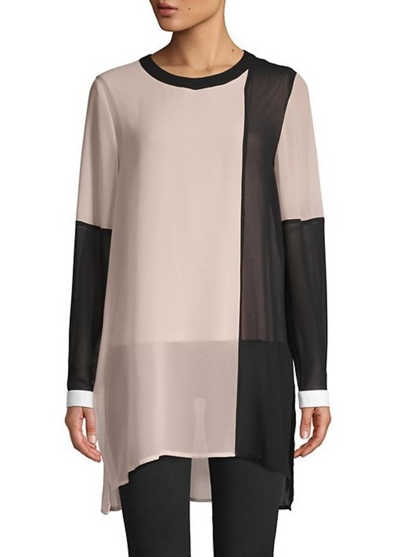 Calvin Klein Colorblock Long-Sleeve Tunic