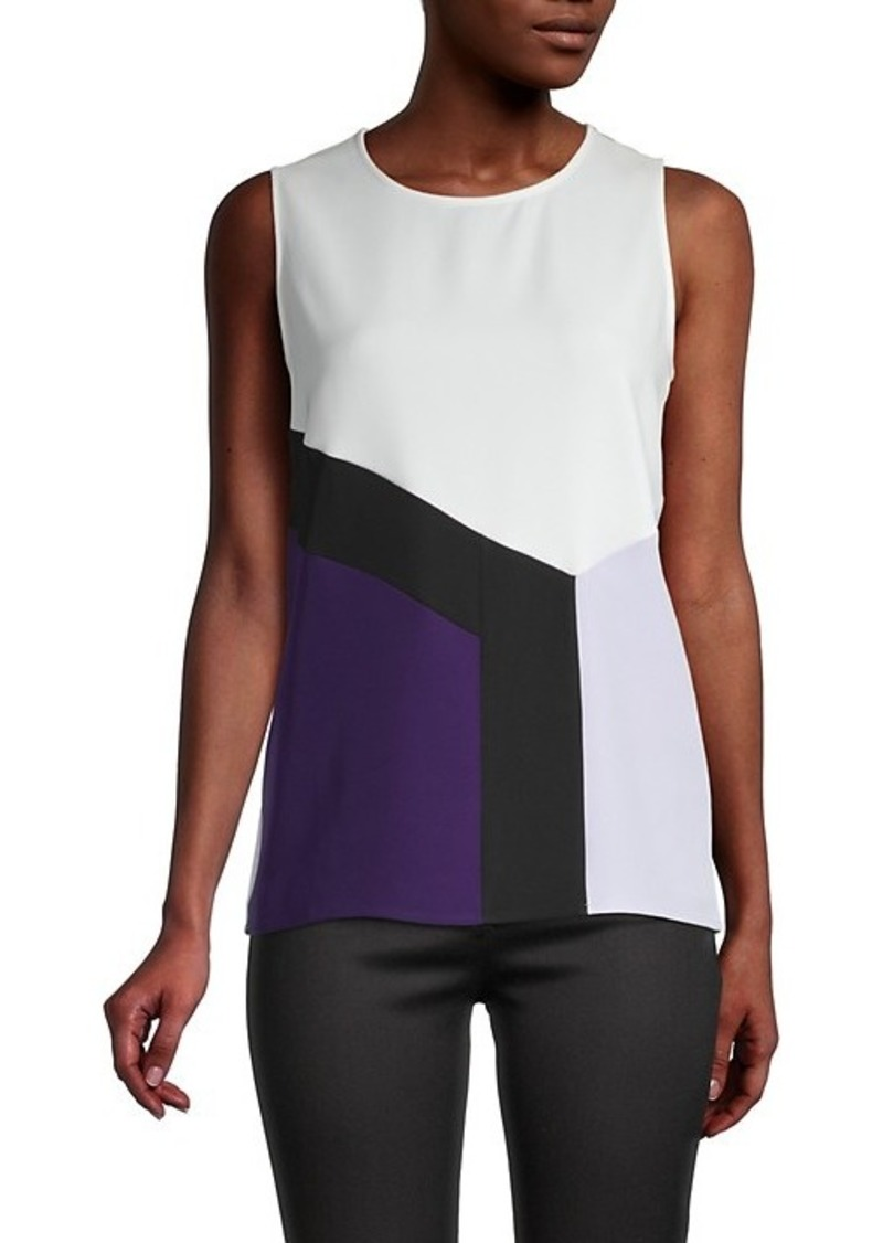 Calvin Klein Colorblock Shell Top