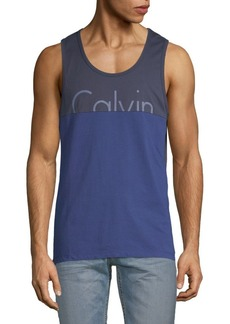Calvin Klein Colorblock Sleeveless Cotton Tank Top