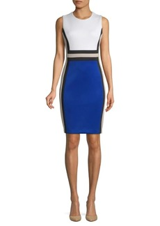 Calvin Klein Colorblock Sleeveless Sheath Dress