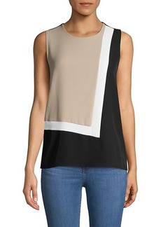 Calvin Klein Colorblock Sleeveless Top