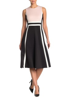 Calvin Klein Colorblock Woven Tank Dress