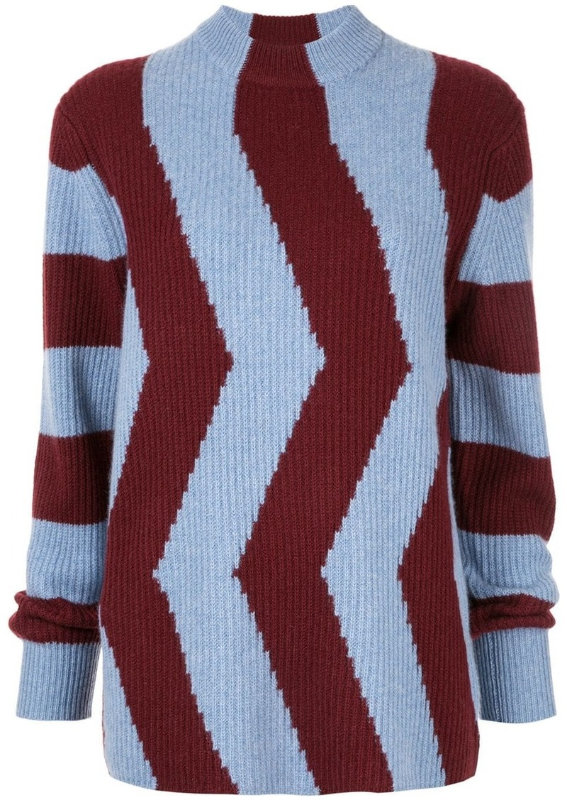 Calvin Klein colour-block fitted sweater