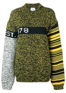 Calvin Klein colour block oversized jumper