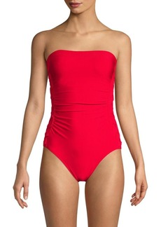 Calvin Klein Compression-Fit Side-Braided One-Piece Swimsuit