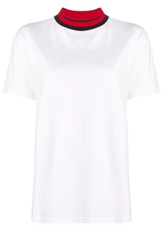 Calvin Klein contrast collar T-shirt