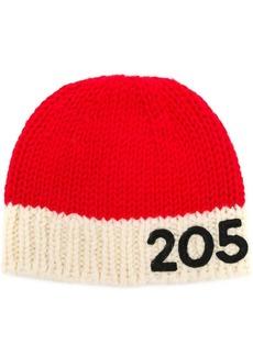 Calvin Klein contrast logo beanie hat