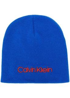 Calvin Klein contrast logo embroidery beanie