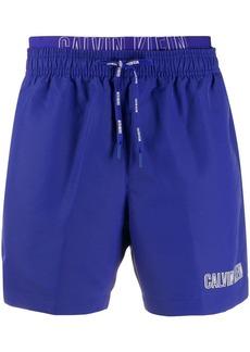 Calvin Klein contrast logo swim shorts
