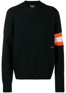 Calvin Klein contrast sleeve band cashmere sweater