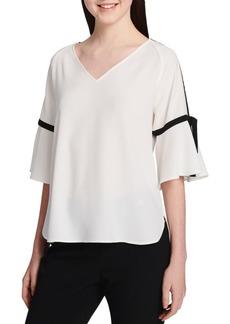 Calvin Klein Contrast Trim Short-Sleeve Top